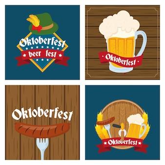 Logotipos de celebração da festa da oktoberfest