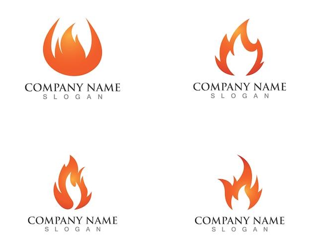 Logotipos de chamas de fogo