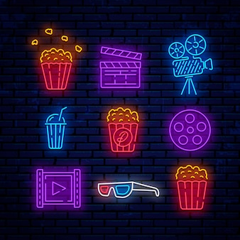 Logotipos de cinema neon