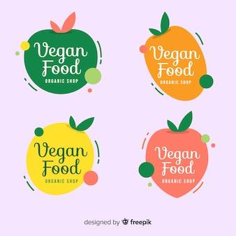 Logotipos de comida saudável