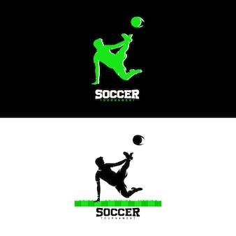 Logotipos de conceitos de design de futebol criativo Vetor Premium