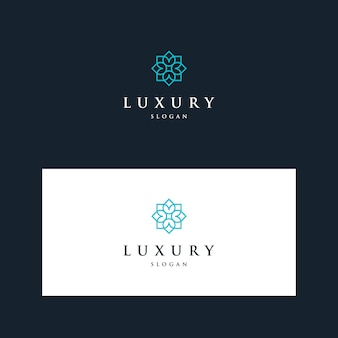 Logotipos de design de flores extravagantes inspiradoras