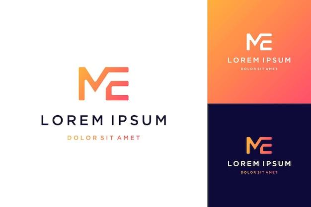 Logotipos de design moderno ou monogramas ou letras iniciais mim