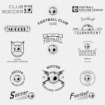 Logotipos de emblemas de futebol