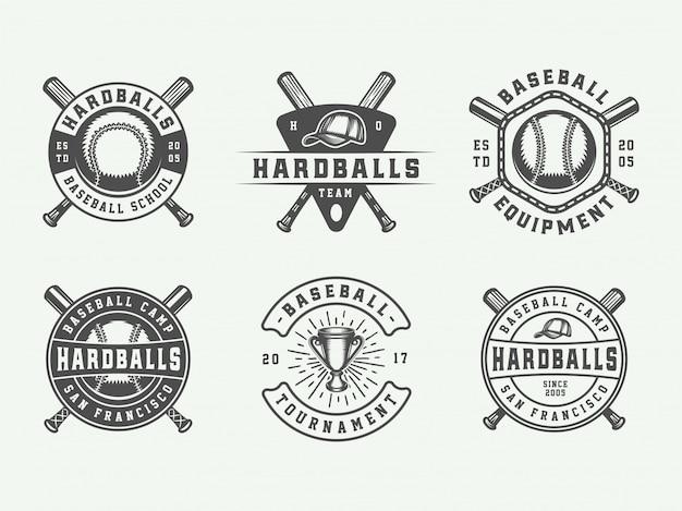 Logotipos de esporte de beisebol