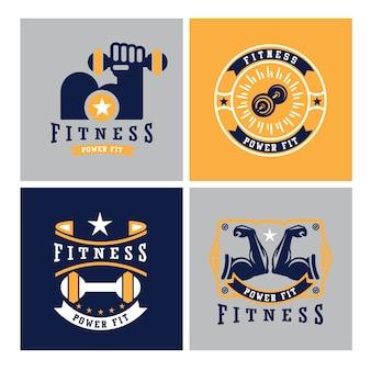 Logotipos de esporte e fitness