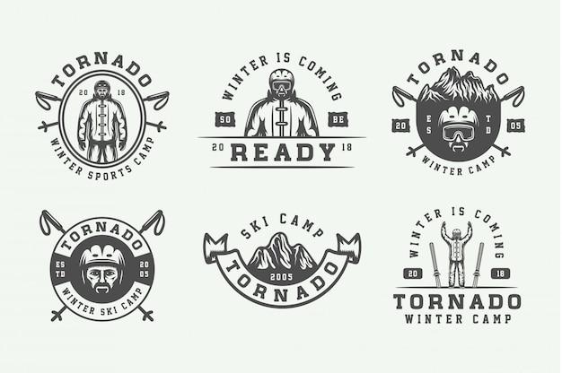 Logotipos de esportes de inverno