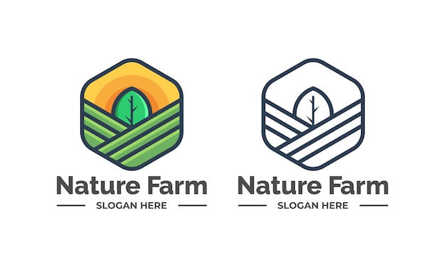 Logotipos de fazenda natureza