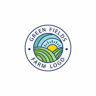 Logotipos de fazenda verde