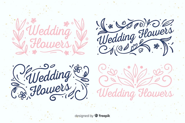 Logotipos de florista lindo casamento