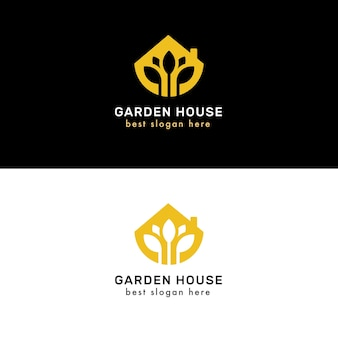 Logotipos de imóveis luxuosos e elegantes