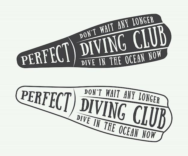 Logotipos de mergulho