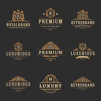 Logotipos de monogramas de luxo