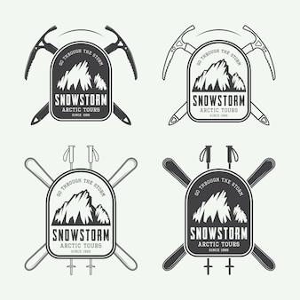Logotipos de montanhismo e expedições