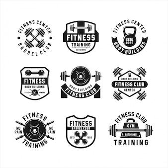 Logotipos de musculação do clube de fitness