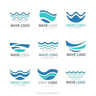 Logotipos de onda abstratos