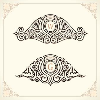 Logotipos de ornamento vintage