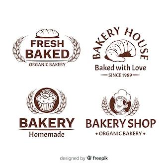Logotipos de padaria vintage