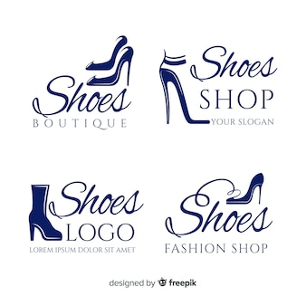 Logotipos de sapato da moda