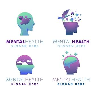 Logotipos de saúde mental gradiente
