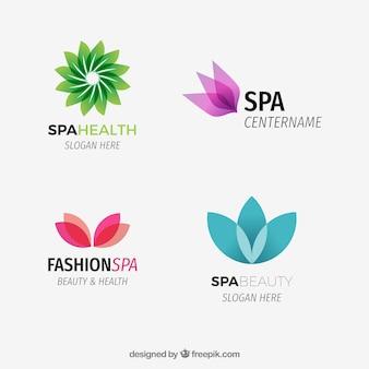 Logotipos de spa abstrata