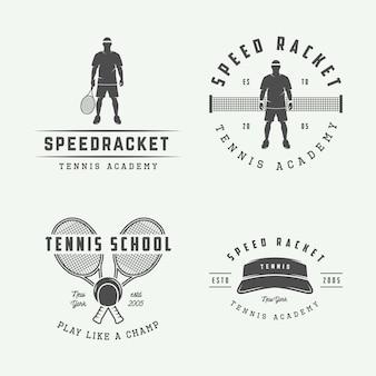 Logotipos de tênis, emblemas, distintivos