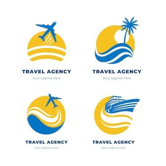 Logotipos de viagens minimalistas criativas