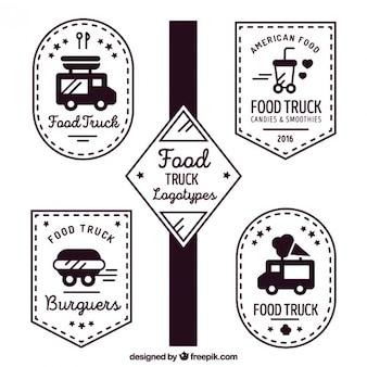Logotipos do caminhão do vintage de alimentos
