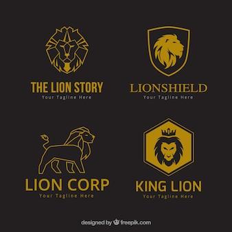 Logotipos do leão, estilo corporativo