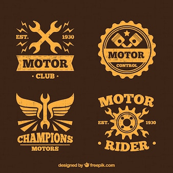 Logotipos do motor amarelo