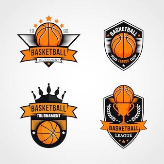 Logotipos do torneio de basquete