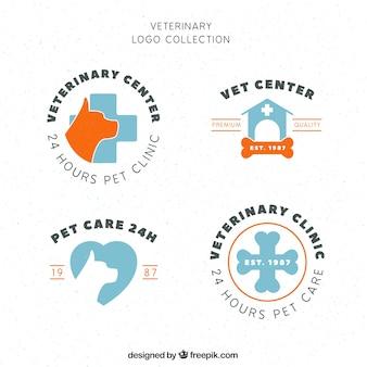Logotipos do vintage para uma clínica veterinária
