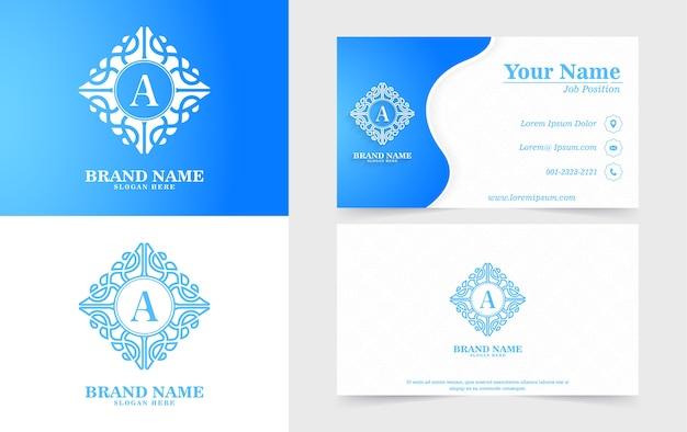 Logotipos e cartões de visita ornamentais modernos