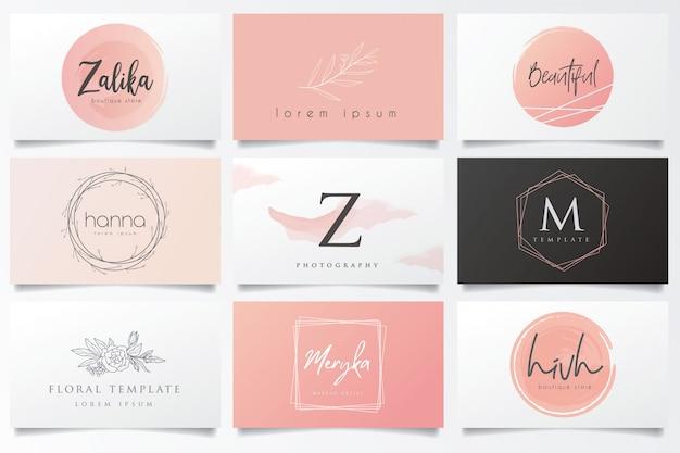 Logotipos e cartões de visita pendentes