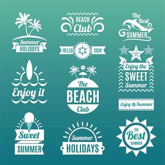 Logotipos e emblemas de verão