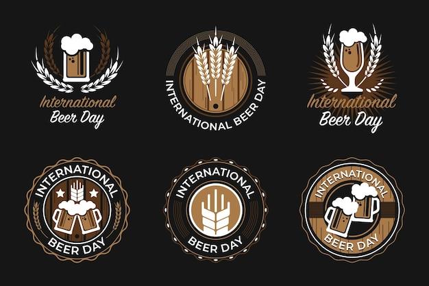 Logotipos e emblemas do dia internacional da cerveja