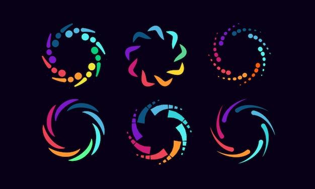Logotipos e ícone de relacionamento social