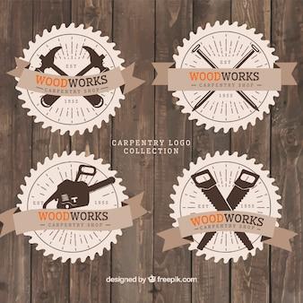 Logotipos estilo vintage para carpintaria