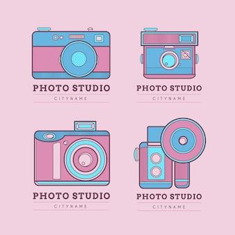 Logotipos estúdio bonito photo-de-rosa