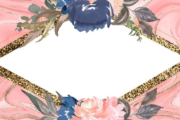 Logotipos florais em aquarela