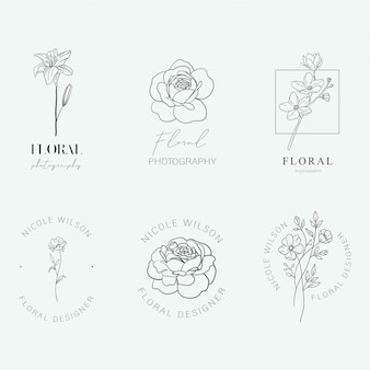Logotipos florais