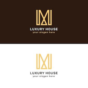 Logotipos imobiliários de luxo e elegante