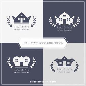 Logotipos imobiliários elegantes