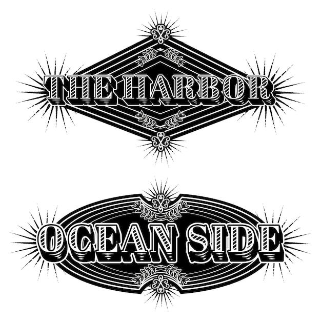 Logotipos marinhos vintage