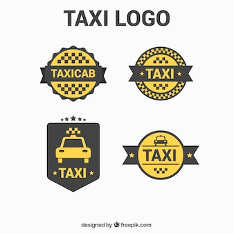 Logotipos minimalistas bonitas para serviço de táxi