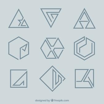 Logotipos mínimos de monolina geométrica