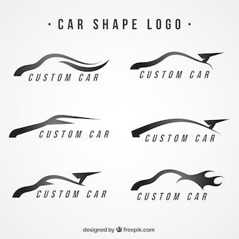 Logotipos modernos com formas de carro