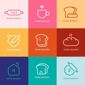Logotipos modernos mínimos de café de padaria