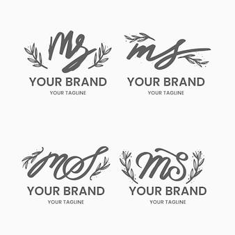 Logotipos ms pintados à mão