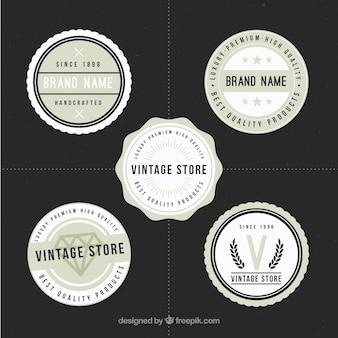 Logotipos redondas para lojas no estilo do vintage